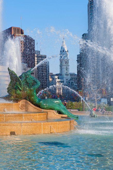 Swann Memorial Fountain - Philadelphia. Designed by Alexander Stirling Calder 1920-24