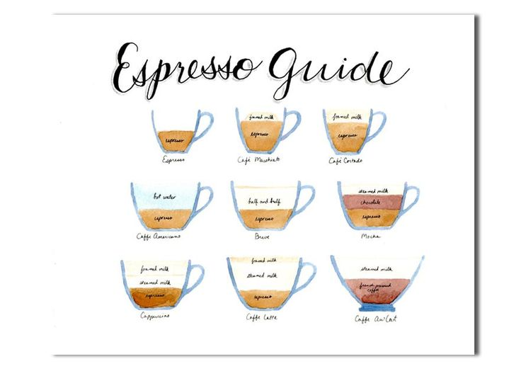 Espresso Field Guide Kitchen art Coffee Chart Poster by KatinkaBee