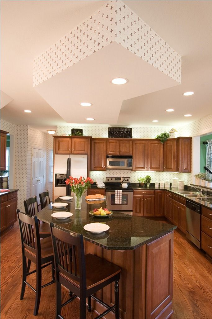 Large eatin kitchen  Stanford Home Design  Eat in
