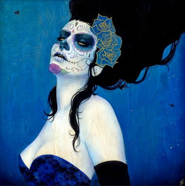"""Blue Rose"" by Sylvia Ji"