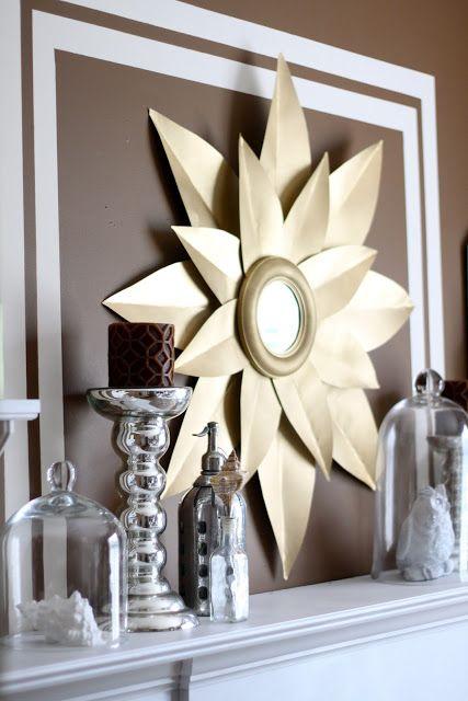VERY EASY DIY sunburst mirror.