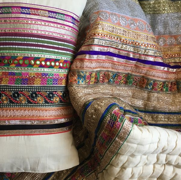 This Royal #Blanket Set is one of a kind made exclusively for Artnique. #Handwoven fabric with multi colored #laces have brought so much attention to this design. Perfect #bedding if you are fond of some glitter