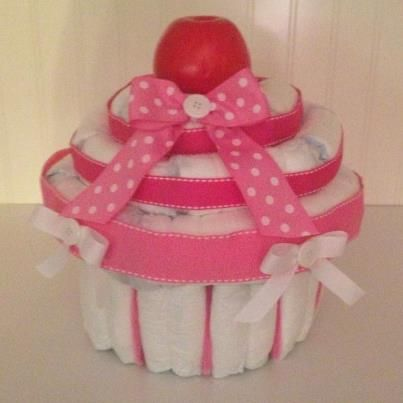 How To Make A Giant Cupcake Diaper Cake