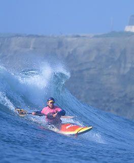 My boys do this!!!  Kayak Surf