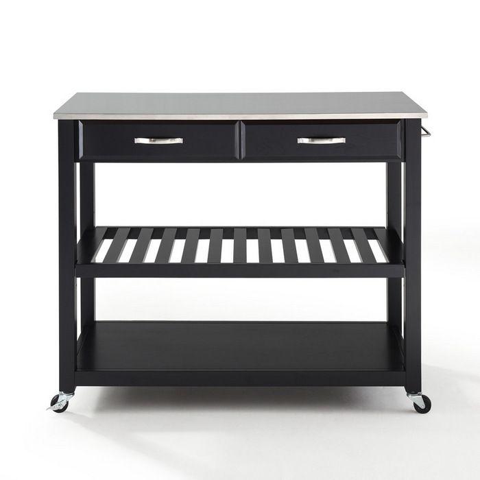 $299 Crosley Stainless Steel Kitchen Cart/Island w/ Optional Stool Storage  sc 1 st  Pinterest & 44 best Kitchen carts and islands images on Pinterest | Kitchen ... islam-shia.org