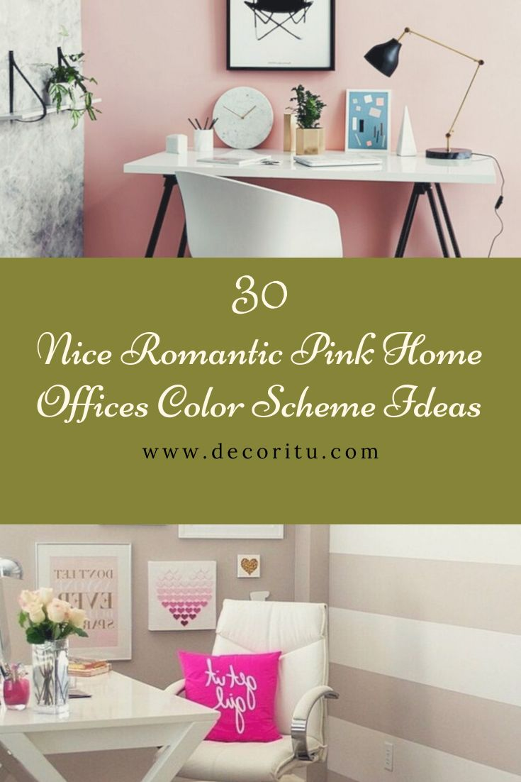30 nice romantic pink home offices color scheme ideas in on office color scheme ideas id=91312