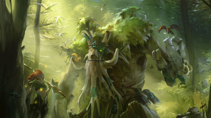 Dota 2 - Enchantress and Treant Protector