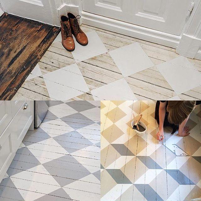 Att måla golvet i en kulör är förstås enklast, men för den som har lite tålamod…