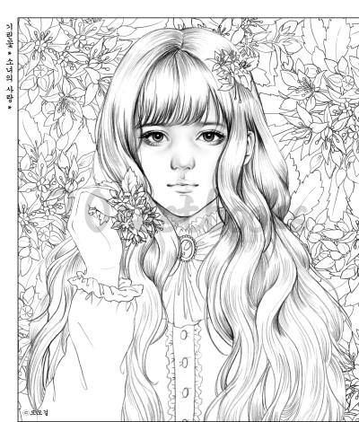Girls with Poem by m.o.m.o girl - Girls Coloring book by momo girl ...