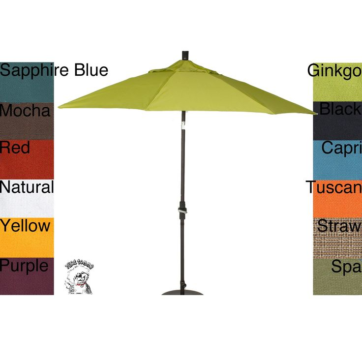 The Phat Tommy Aluminum Market Patio Umbrella Offers UV Protection And  Features Pacifica Canvas Fabric. Air Vents On The Cover Reduce Wind Stress,  ...