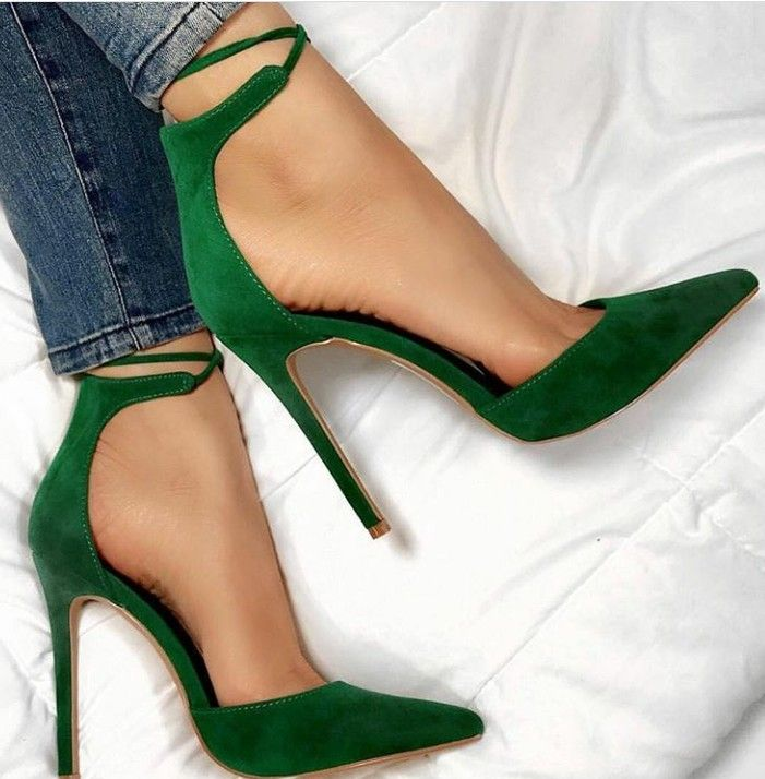 6fd9be74c45bc vert sapin ス chaussures shoes escarpin hauts talons green pumps high heels