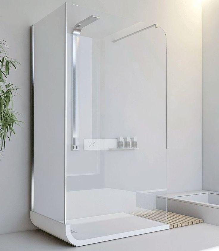 Compre online Curve f1 + f2 by Relax, cabine de duche autônoma de cristal com placa design Svetlana Mojic, coleção Curve