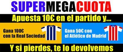 el forero jrvm y todos los bonos de deportes: marca apuestas Supermegacuota Real Sociedad vs Atl...