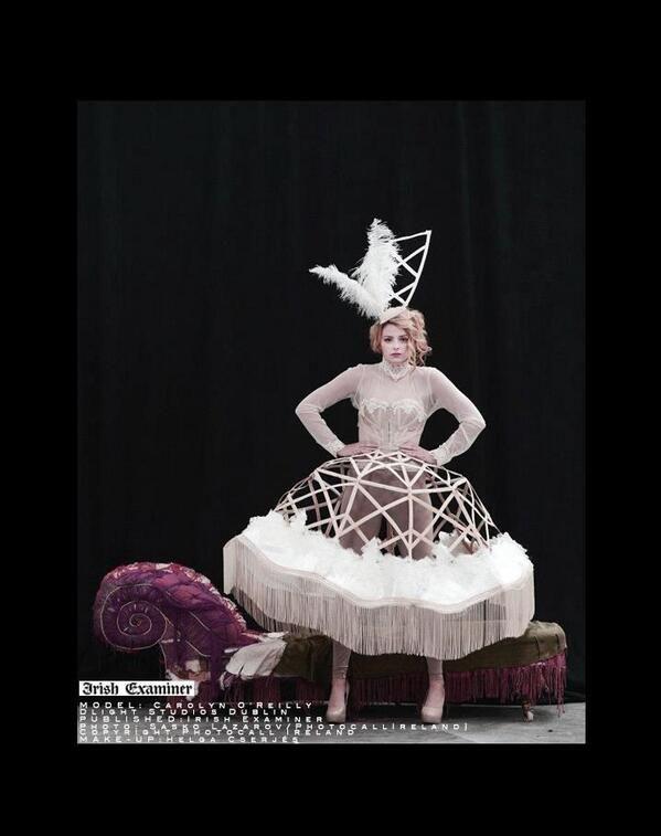 Couture design in The Irish Examiner 2013 https://www.facebook.com/pages/Maria-Lola-Roche/162463010434983?ref=hl www.marialolaroche.com
