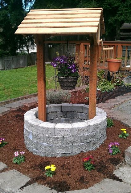 You Will Love These Wishing Well Garden Planter Feature Ideas And There Is Plenty Of Inspiration