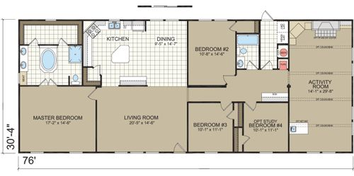 North Carolina Manufactured Home Floor Plans Dutch 3277