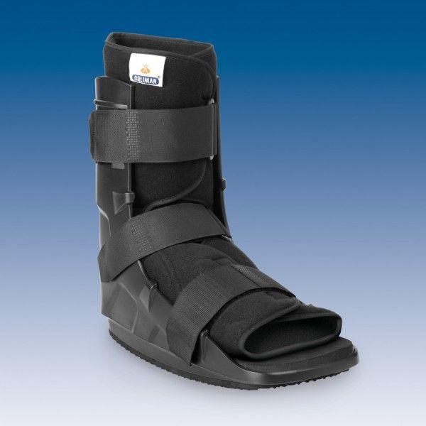 WALKER FIJO CORTO - REF: EST-088: Lesiones del pie, fracturas metatarsianas, bunionectomía, post-cirugía, lesiones de los tejidos blandos, lesiones delanteras del antepié, maléolo y calcáneo y esguinces severos de tobillo.
