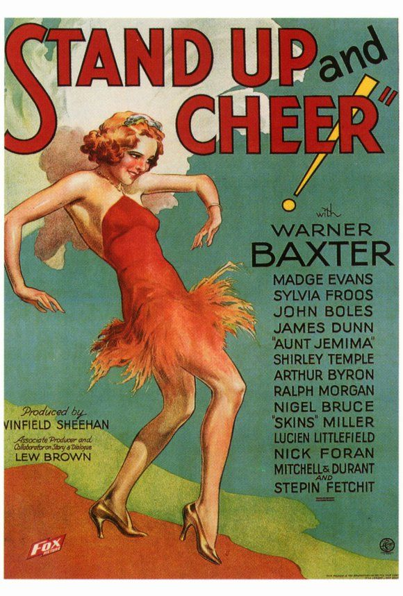 Stand Up and Cheer! (1934)Vintage Posters, Movie Posters,  Dust Jackets, Vintage Cinema,  Dust Covers, Book Jackets, Vintage Movie,  Dust Wrappers, Posters Artlov
