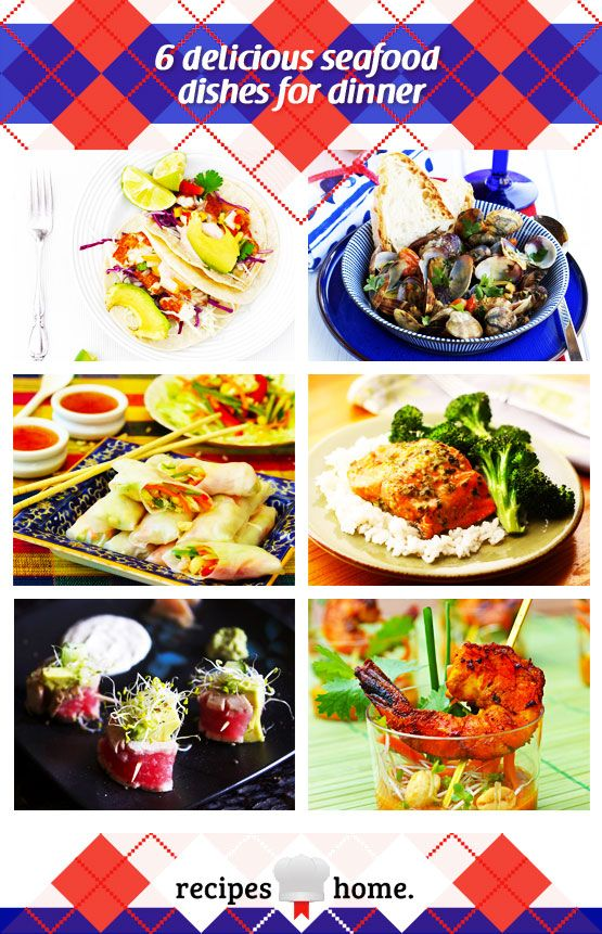 6 delicious seafood dishes for dinner | Recipes Home -  foodiedelicious.com  #Seafood #Seafooddishes