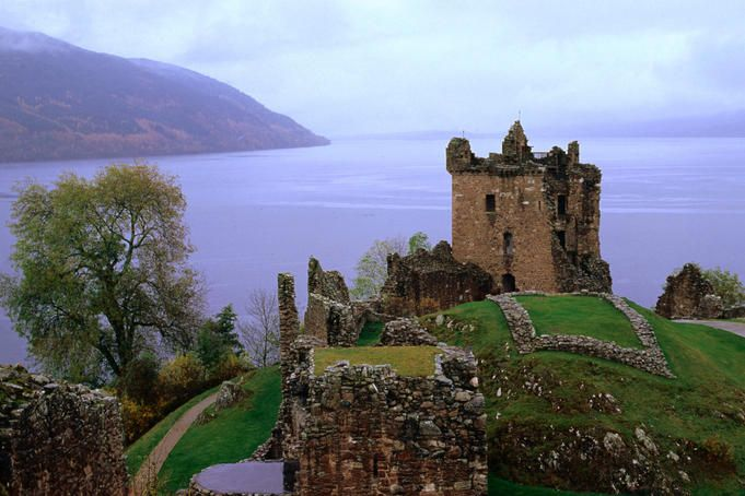 Castle Urquhart, Scotland - When looking for the LochNess monster this is the place to stay
