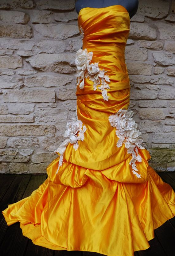 Made to Order Mermaid Trumpet Wedding Dress Roses by Arabescque