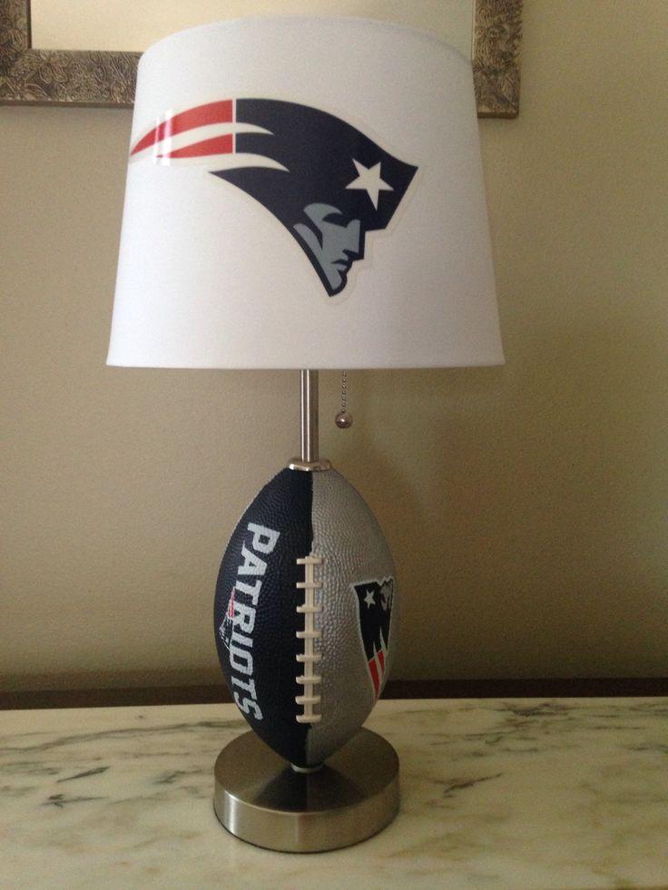New England Patriots football lamp by thatlampguyGraz on Etsy https://www.etsy.com/listing/216639792/new-england-patriots-football-lamp