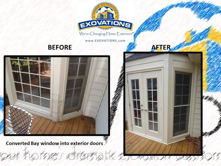 Exovations window replacement window doors and screened for Bow window replacement
