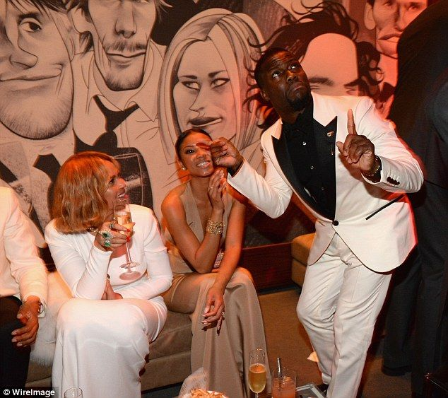 'Cool kids table': Comic actor Kevin Hart spent time with Beyonce during the party