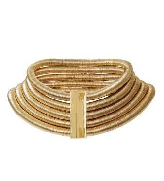 Collar de cuerdas estilo egipcio en dorado (79,99 €) - Copyright © 2015 Hearst Magazines, S.L.