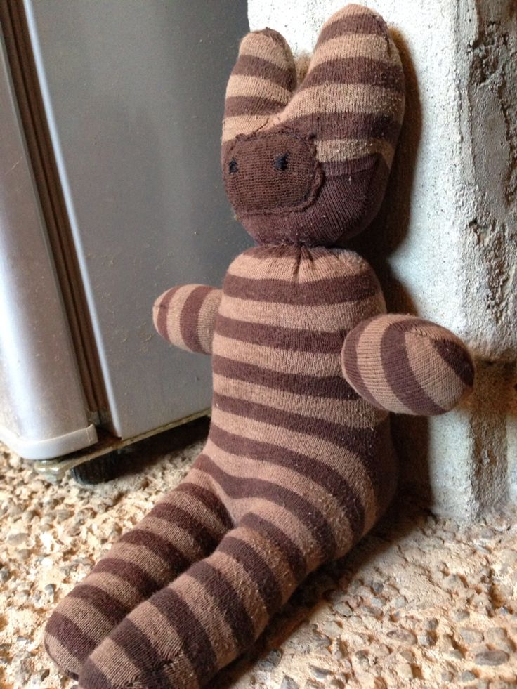 Unpaired sock stuffed buddy, made out of only 1 sock... Great alternative for lonely socks if you have kids