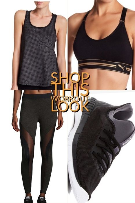 Shop this fun workout look #workout # #lookoftheday #getthelook #reebok #puma #shopping #shoppingonline #gift #running #affiliate