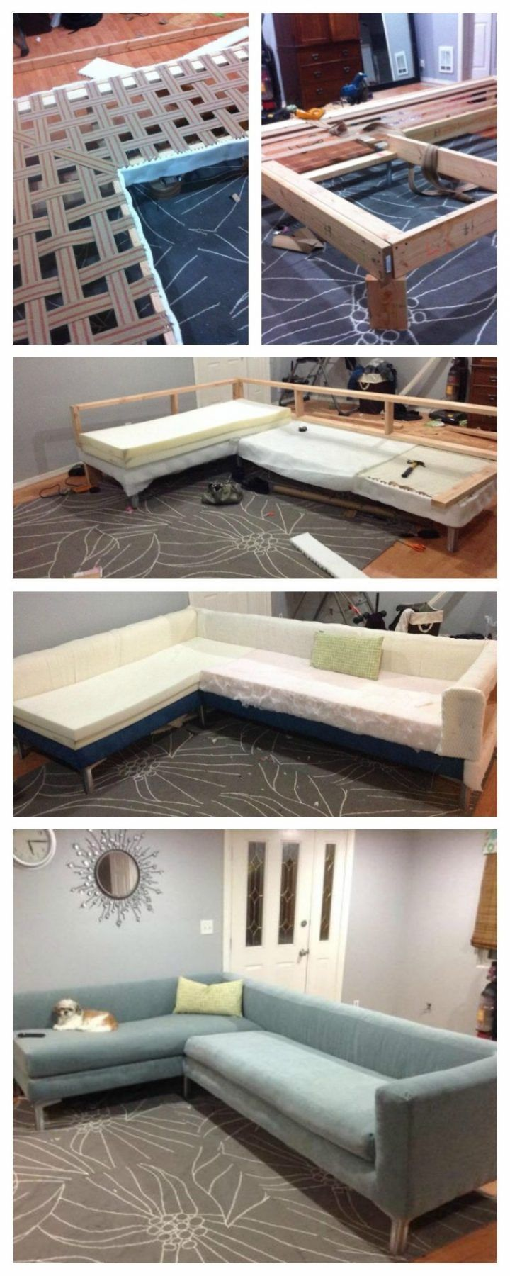 Sofa Couch Design Plans Build Your Own Sectional Ashley Modular In Pieces Diy Frame