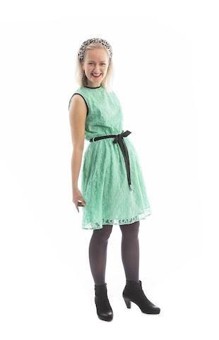 Retro blonde-kjole