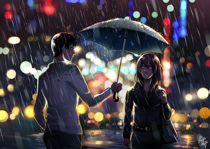 W deszczu