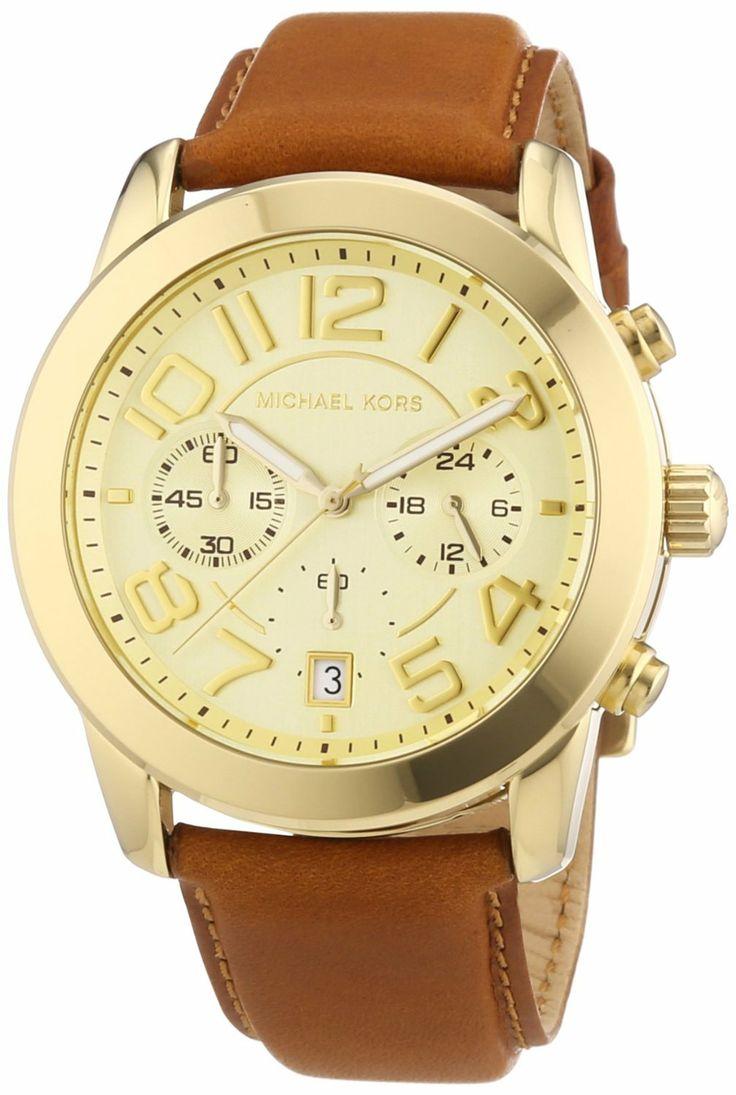Michael Kors Damen-Armbanduhr Chronograph Quarz Leder MK2251: Michael Kors: Amazon.de: Uhren