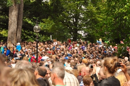 Huge crowd in Hyde Park - London 2012.