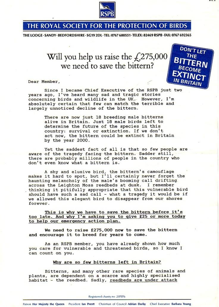 RSPB letter