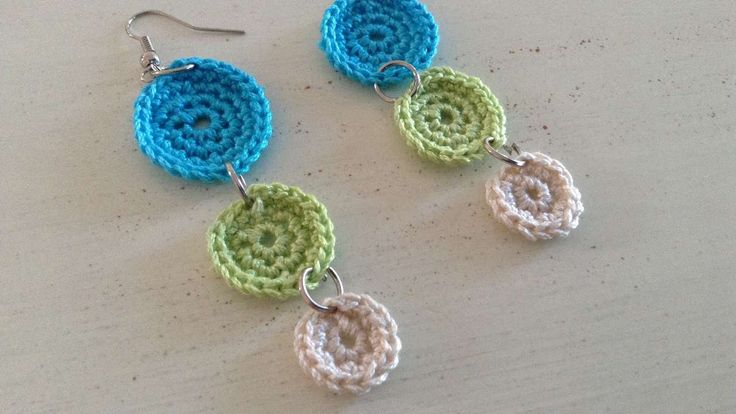 How To Crochet Multi Colored Earrings - DIY Crafts Tutorial - Guidecentral - YouTube