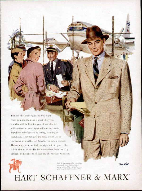 Vintage Ad From 1950 Featuring Mens Suits By Hart Schaffner Marx