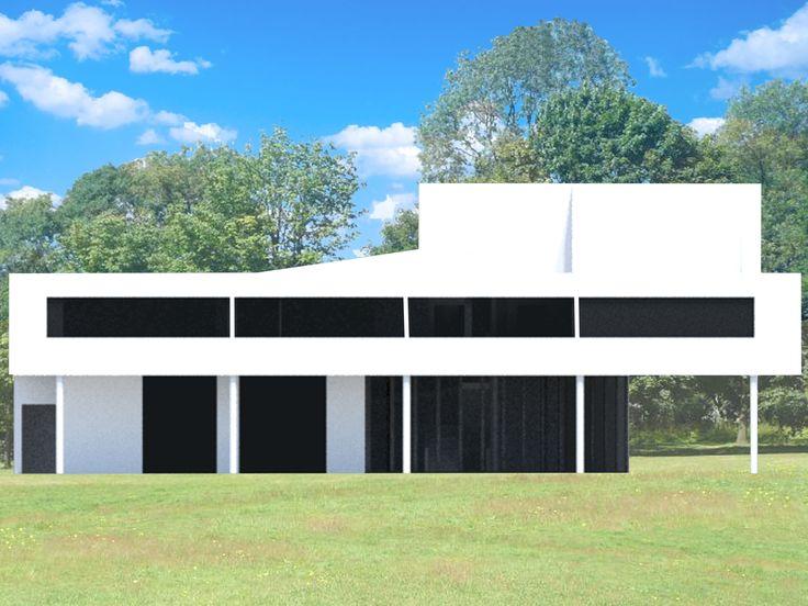 villa savoye / 3D max / elevation