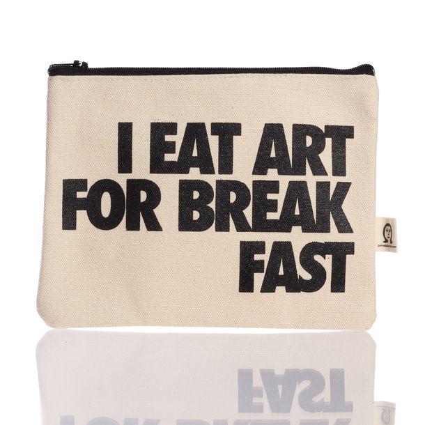 Art For Breakfast Pouch