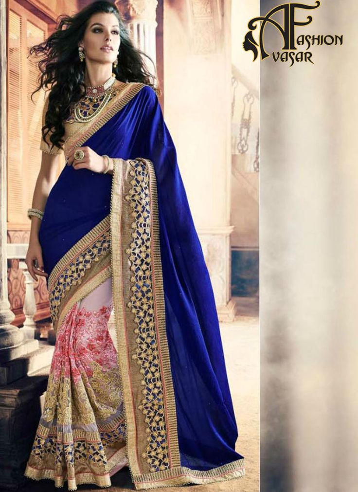 party wear georgette sarees – buy online blue georgette sarees shopping india