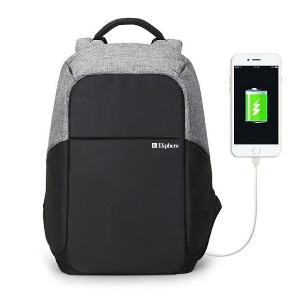 Ekphero®メンズ盗難防止バックパック防水トラベルバッグ(USB充電ポート付) - US$49.58