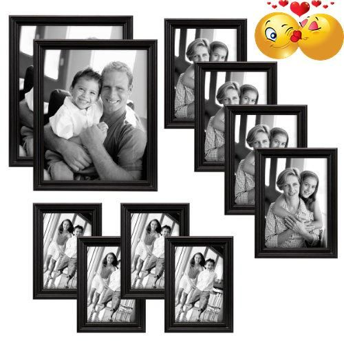 #homedecor Ten of our better selling frames in one 10-piece #value pack. You get four 5x7 frames, four 4x6 frames and two 8x10 -all #wood frames. All frames are b...