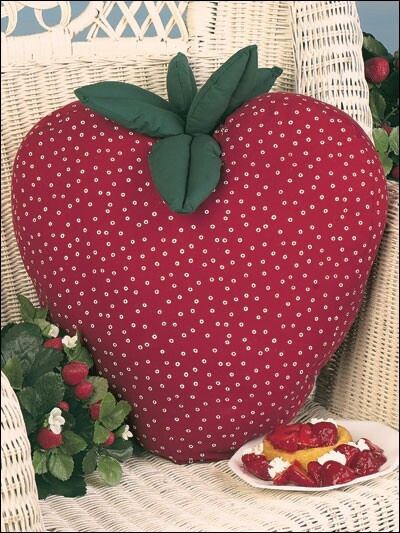 .strawberry cushion-you could end up with a whole fruit salad on your couch!!!