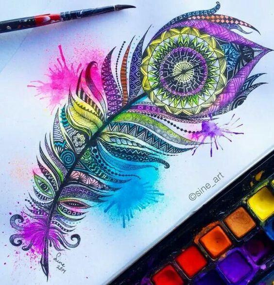 Gorgeous feather tattoo idea