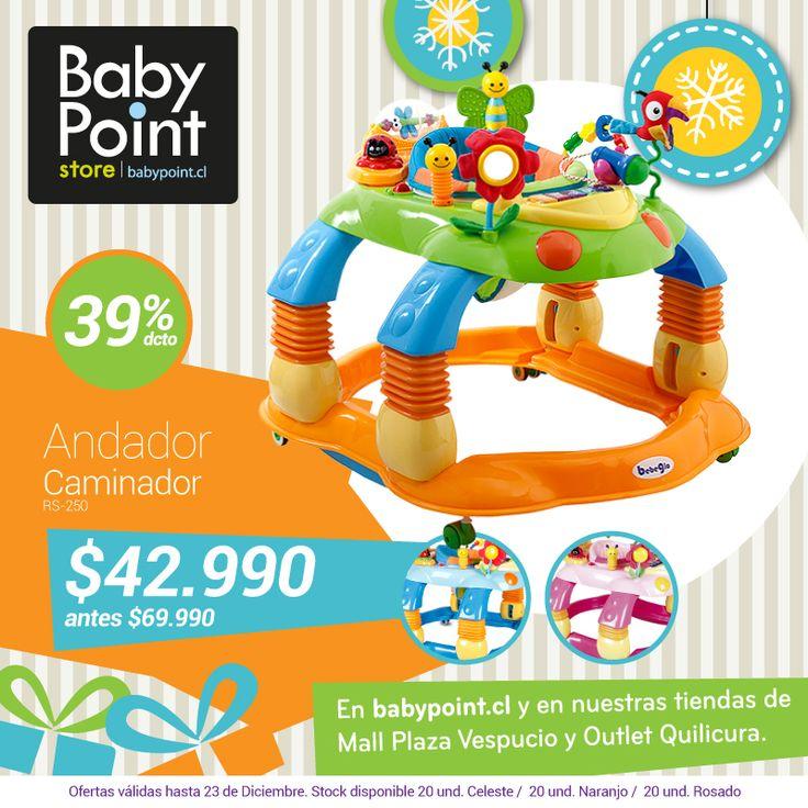 #NavidadBabyPoint ¡39% de descuento enAndador Caminador! Ideal para que tu bebé comience a descubrir su entorno y a dar sus primeros pasos de manera segura. Descúbrelo aquí-> bit.ly/1uFz6h5
