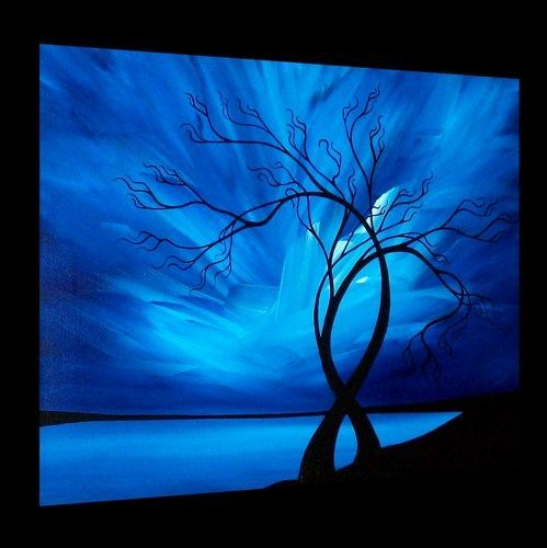 25 best ideas about abstract tree painting on pinterest for Acrylic canvas ideas
