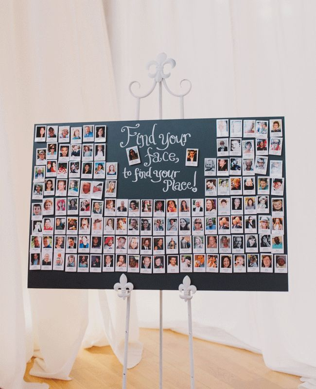 Escort card display. Probably best for small weddings...