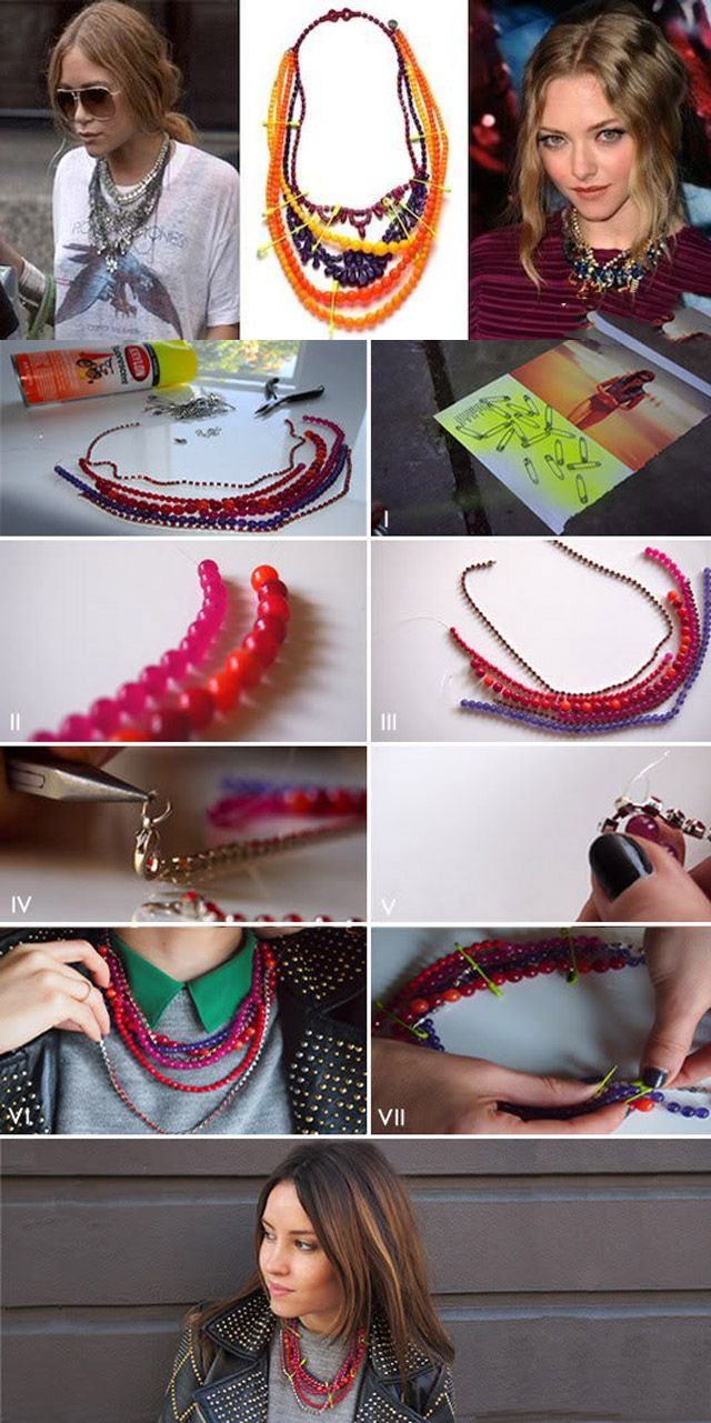DIY Fashion: 15 Amazing Necklace - Fashion Diva Design